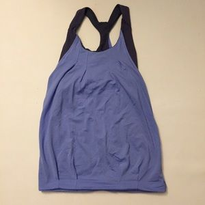 Ivivva girl's blue double layer tank top 12